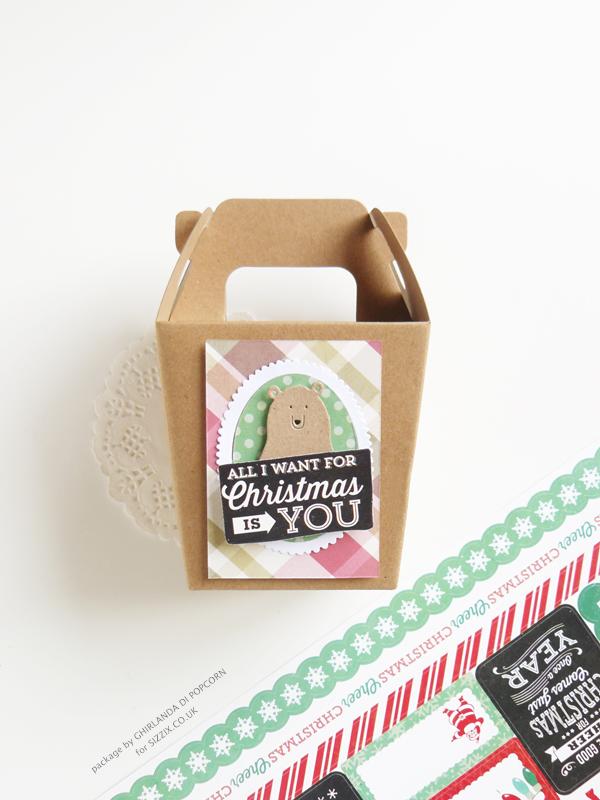 Christmas take away box 1 {Ghirlanda di Popcorn}