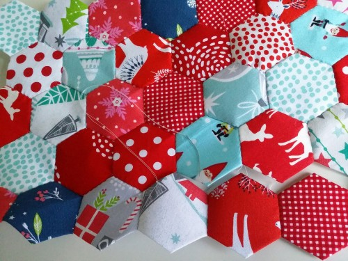 Christmas-hexagons
