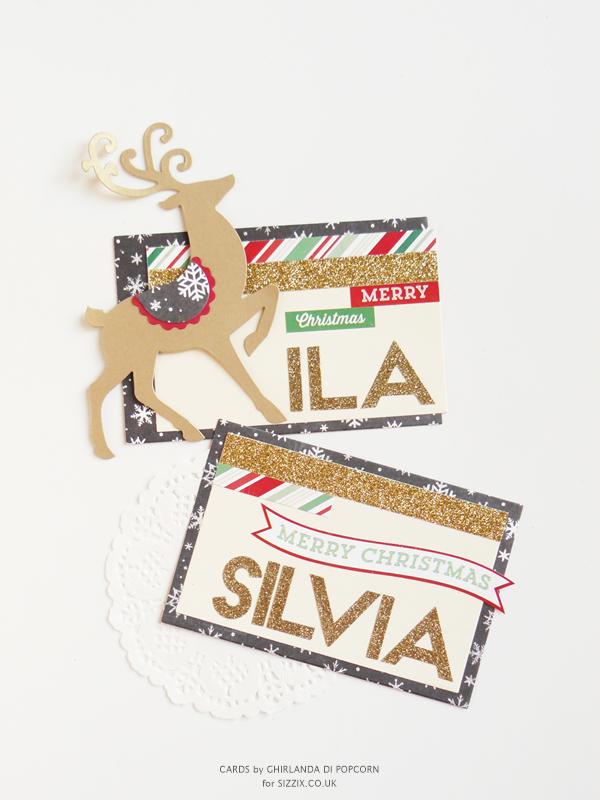 Christmas Cards Reindeer {Ghirlanda di Popcorn}
