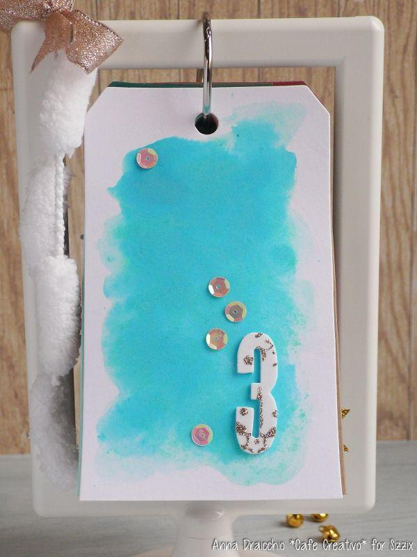 Christmas Countdown-Sizzix-big shot-diecutting-ikea frame-tag-scrapbooking