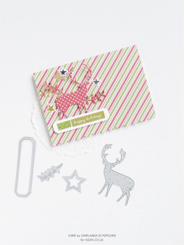 Happy Holiday Card 1 {Ghirlanda di Popcorn}