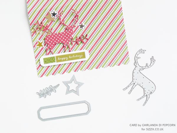 Happy Holiday Card 3 {Ghirlanda di Popcorn}
