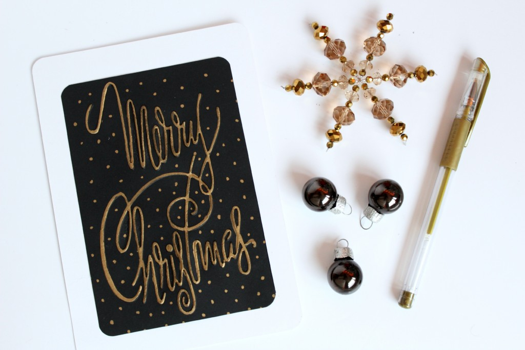Gold-Embossed-Calligraphy-Christmas-Card