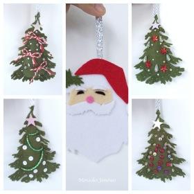 Xmas Mobiles trees and Santa