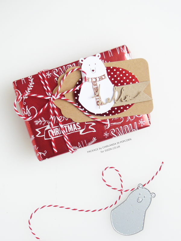 Loving white bear package 1 {Ghirlanda di Popcorn}