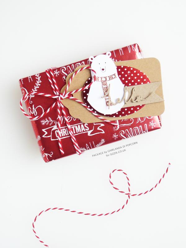Loving white bear package 4 {Ghirlanda di Popcorn}