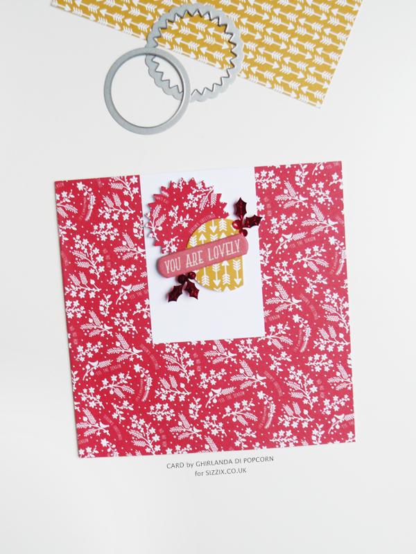 You are lovely Card 1 {Ghirlanda di Popcorn}