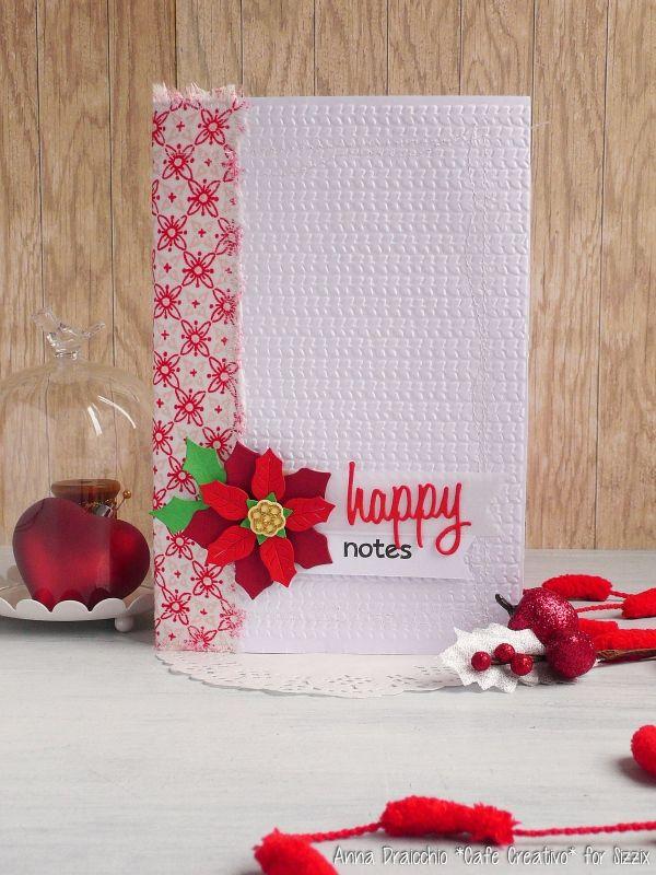 christmas-planner-notes-mini-album-december-scrapbooking-poinsettia-dies-sizzix-big shot-by AnnaDrai cafecreativo