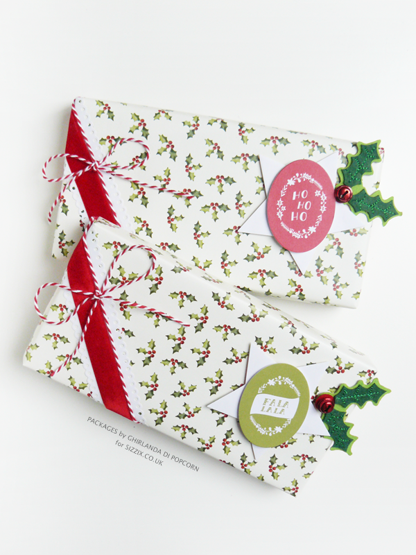 last minute gift wrapping idea 1 {Ghirlanda di Popcorn}