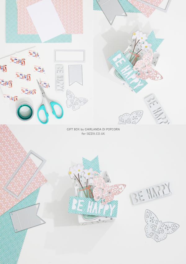 Be Happy Gift Box 2 {Ghirlanda di Popcorn}