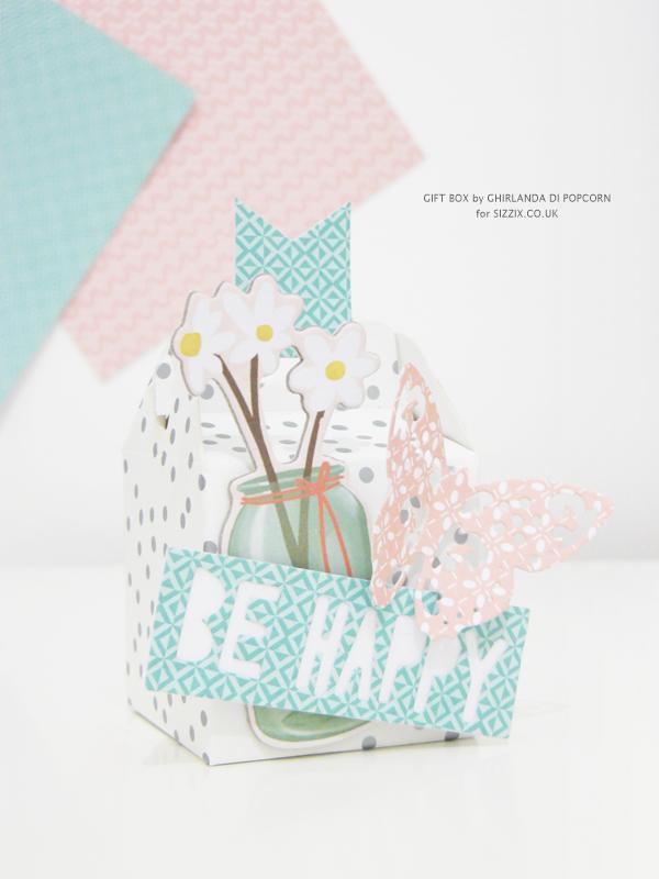 Be Happy Gift Box 3 {Ghirlanda di Popcorn}