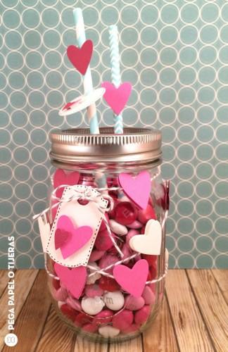 Million hearts mason jar