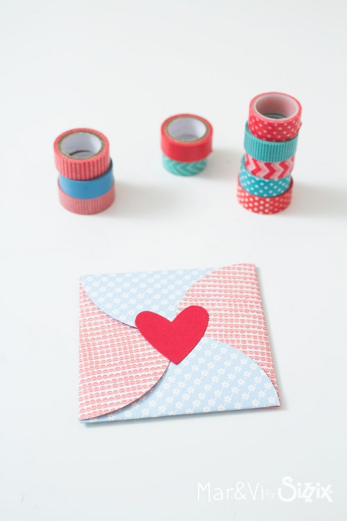 Envelope made with circles