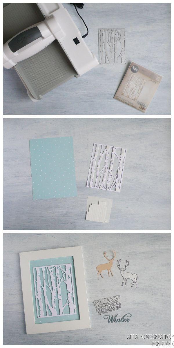 DIY-tutorial-Birch Trees-Tim-Holtz-winter-frame-sizzix-big-shot-diecut