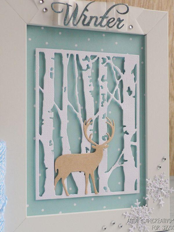 Birch Trees-Tim-Holtz-winter-frame-sizzix-big-shot-diecut