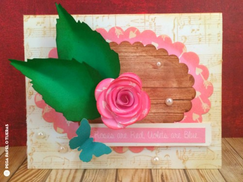 Valentines romantic rose card