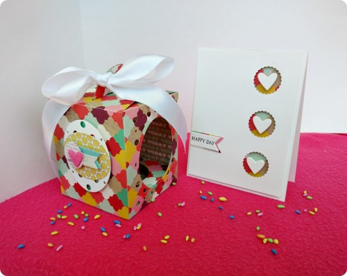 cupcake box and card set