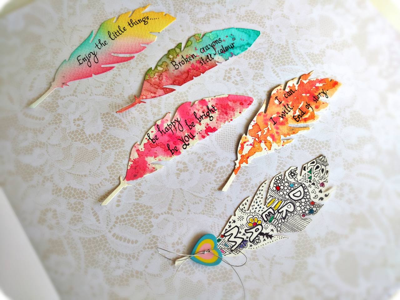 Feather bookmarks-6