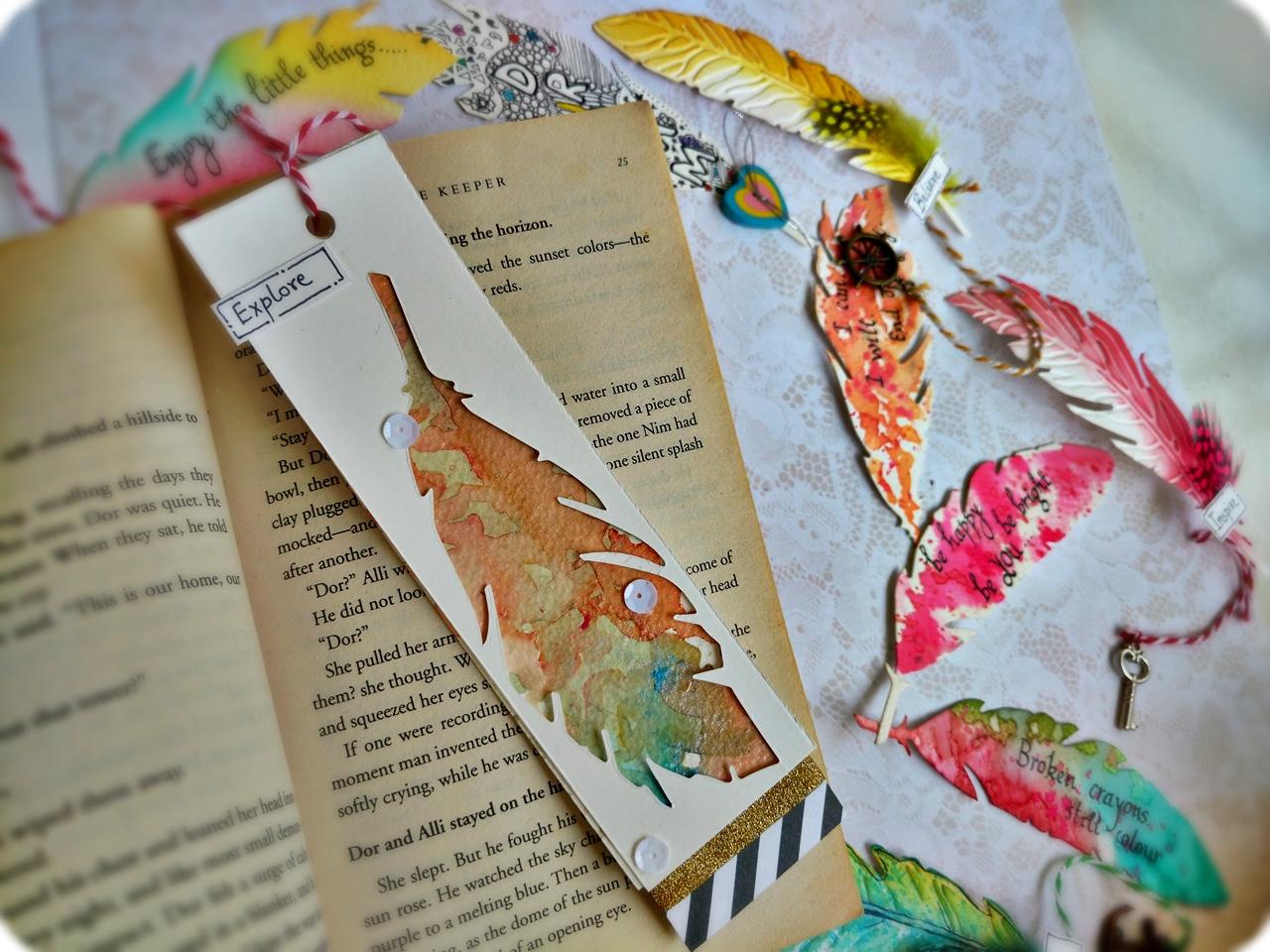 Good Bookmark Ideas Part - 11: Feather Bokmark Ideas