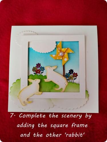 bunny card-step 7