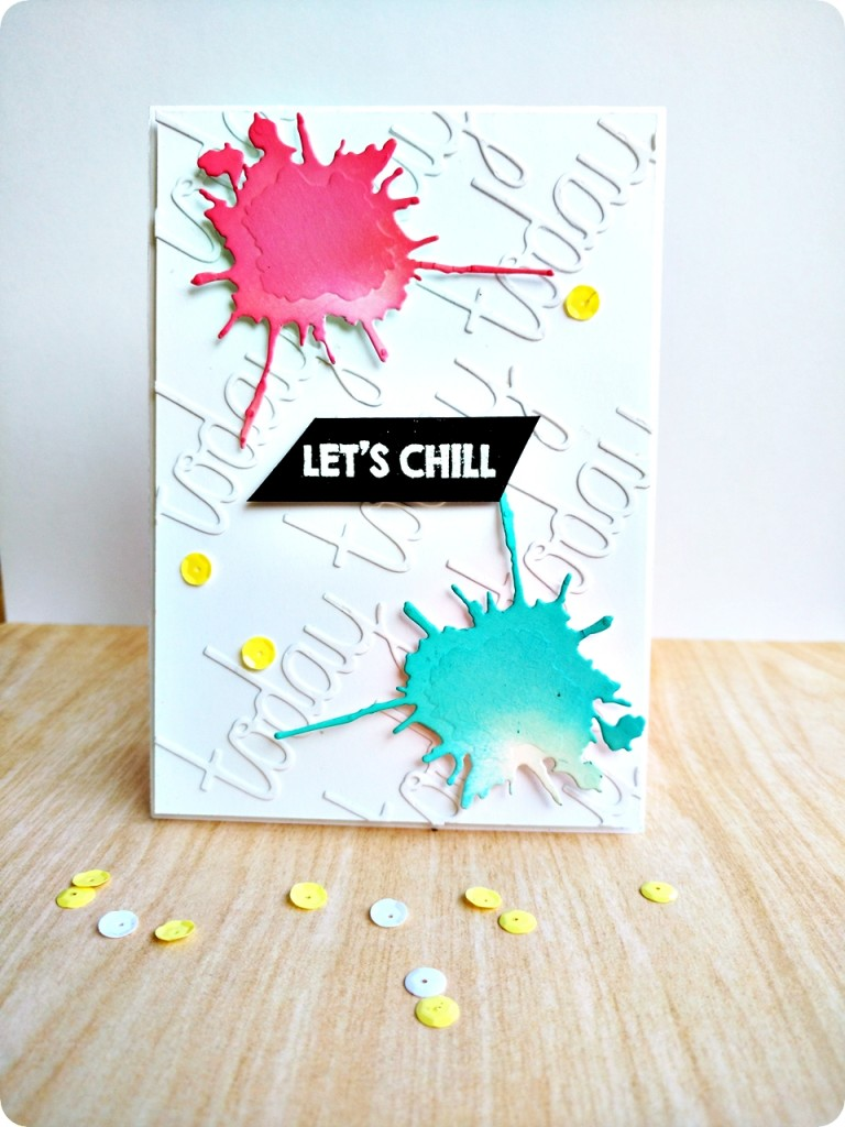 'Lets chill' card