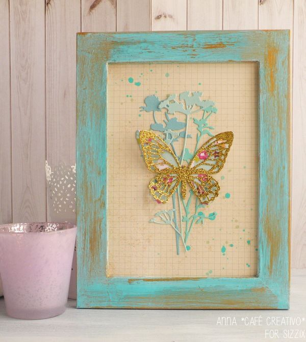 Detailed Butterfly Frame - sizzix big shot