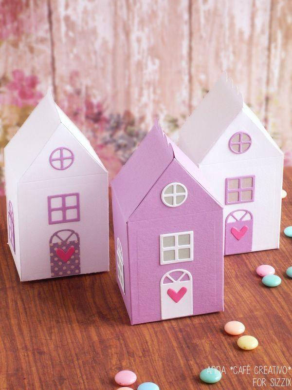party favor box-sizzix-big shot-My Little House die