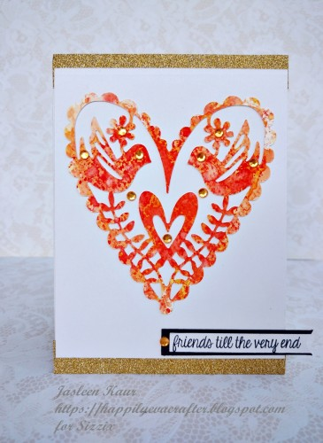 die-cut heart card