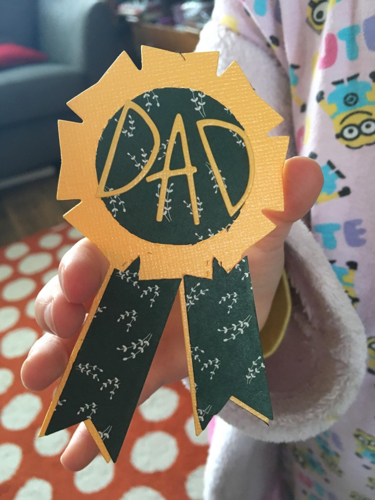 Rosette badge for Father's Day