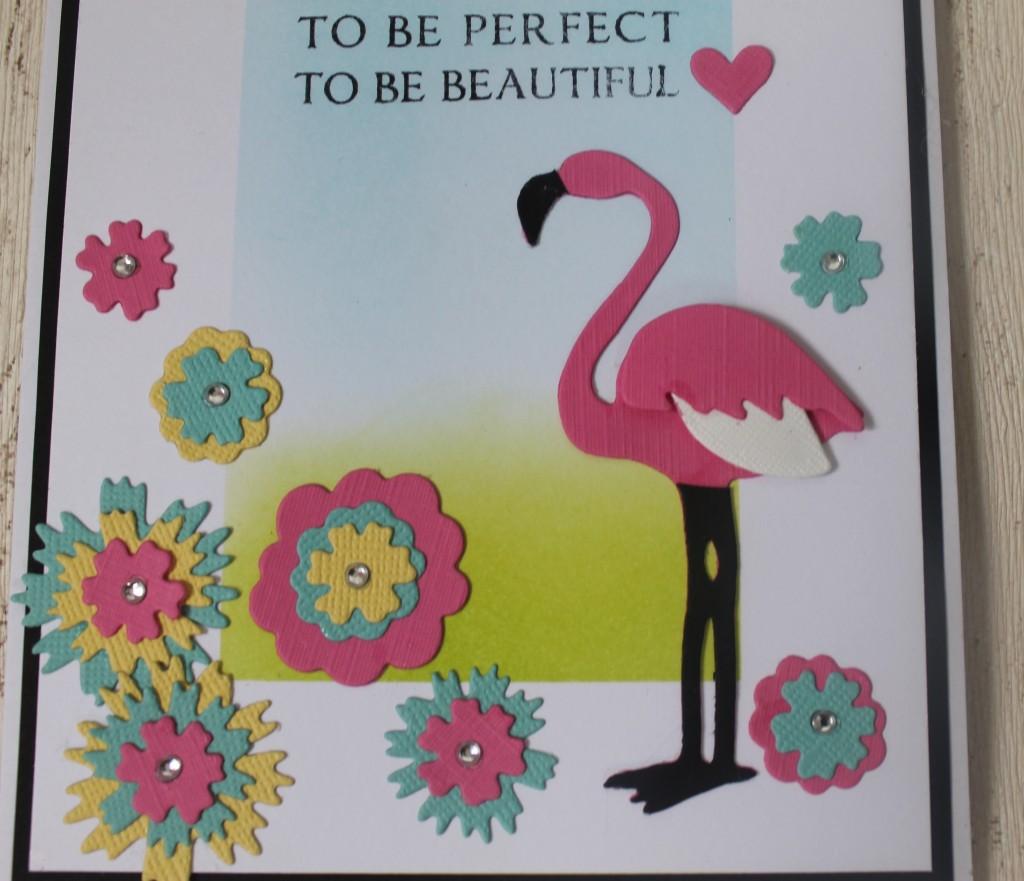 How to make a Funky Flamingo card