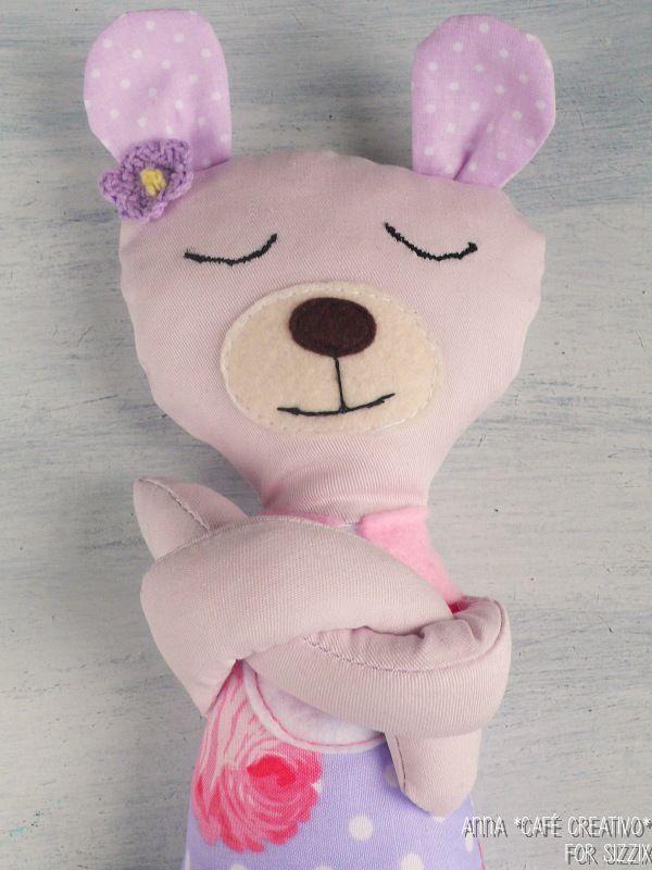 Bear Softiee Stuffed Toy Sewing Sizzix Plus