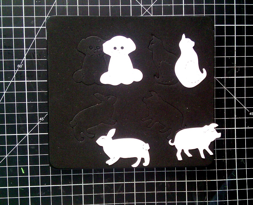 Sizzix Bigz Die Cat Dog Pig Rabbit