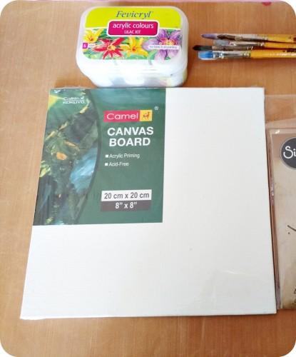 Making a canvas wall art