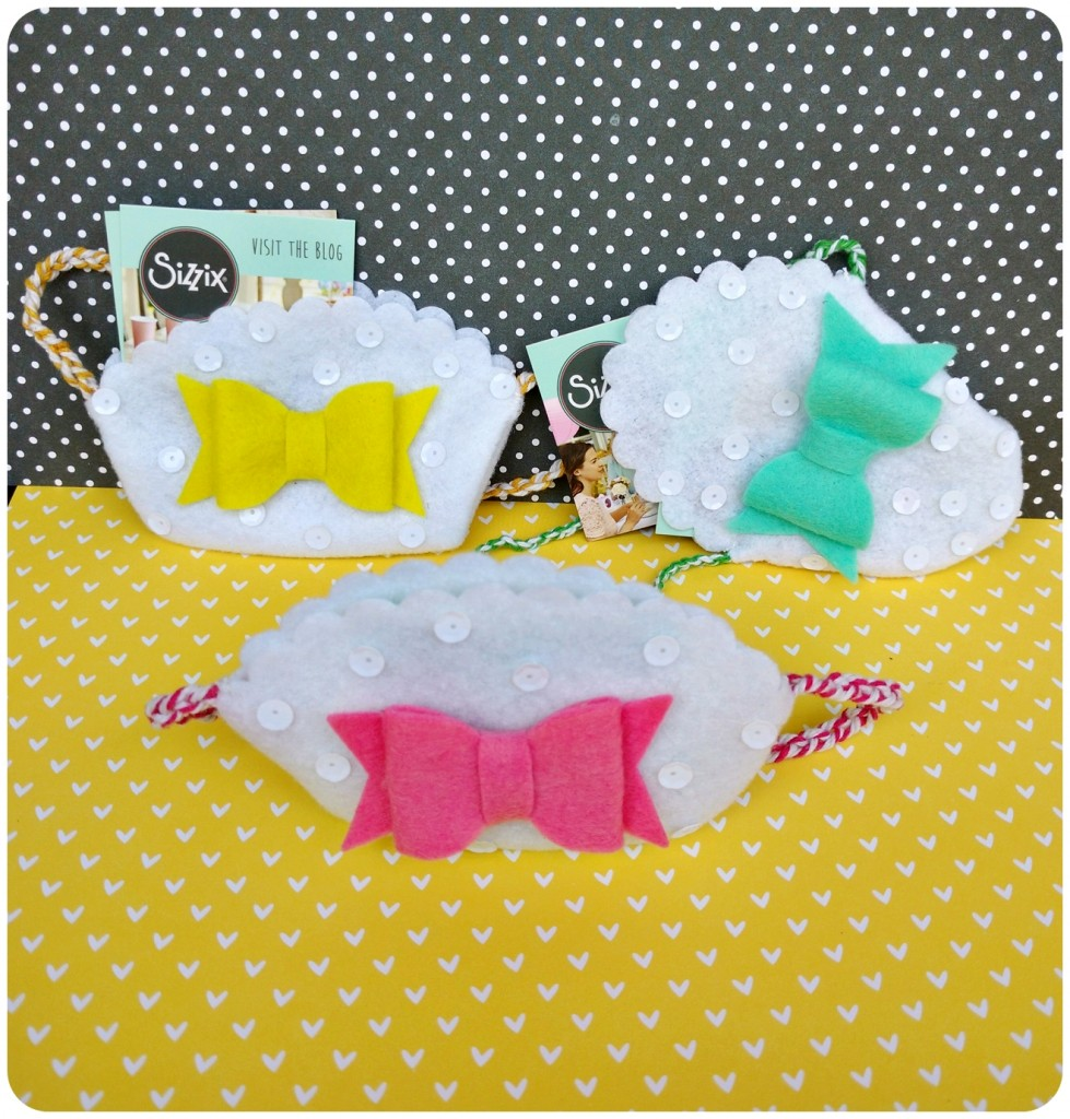 Felt Pouches With Bows
