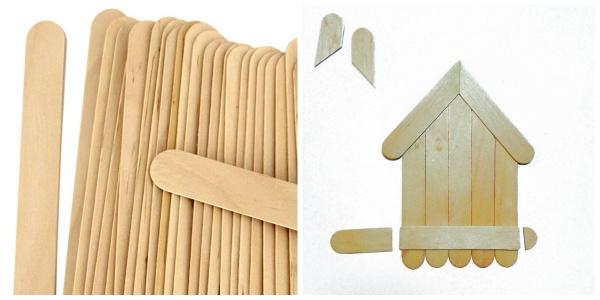 Popsicle Stick Birdhouse | Anna Draicchio | Daily