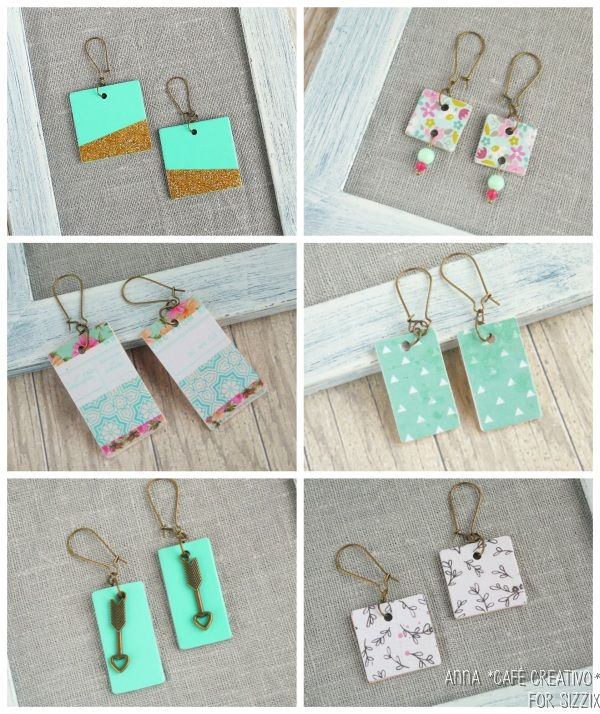 How to Make Earrings from Cardboard using Sizzix Big Shot