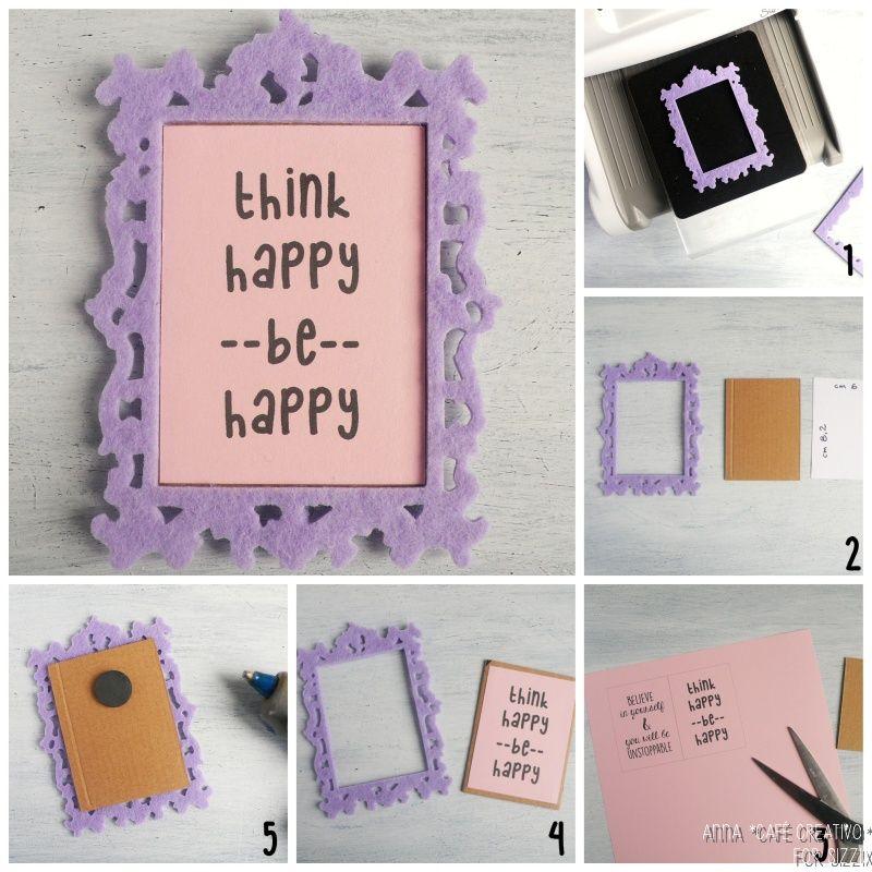 How to make a Mini Felt Magnet Frame