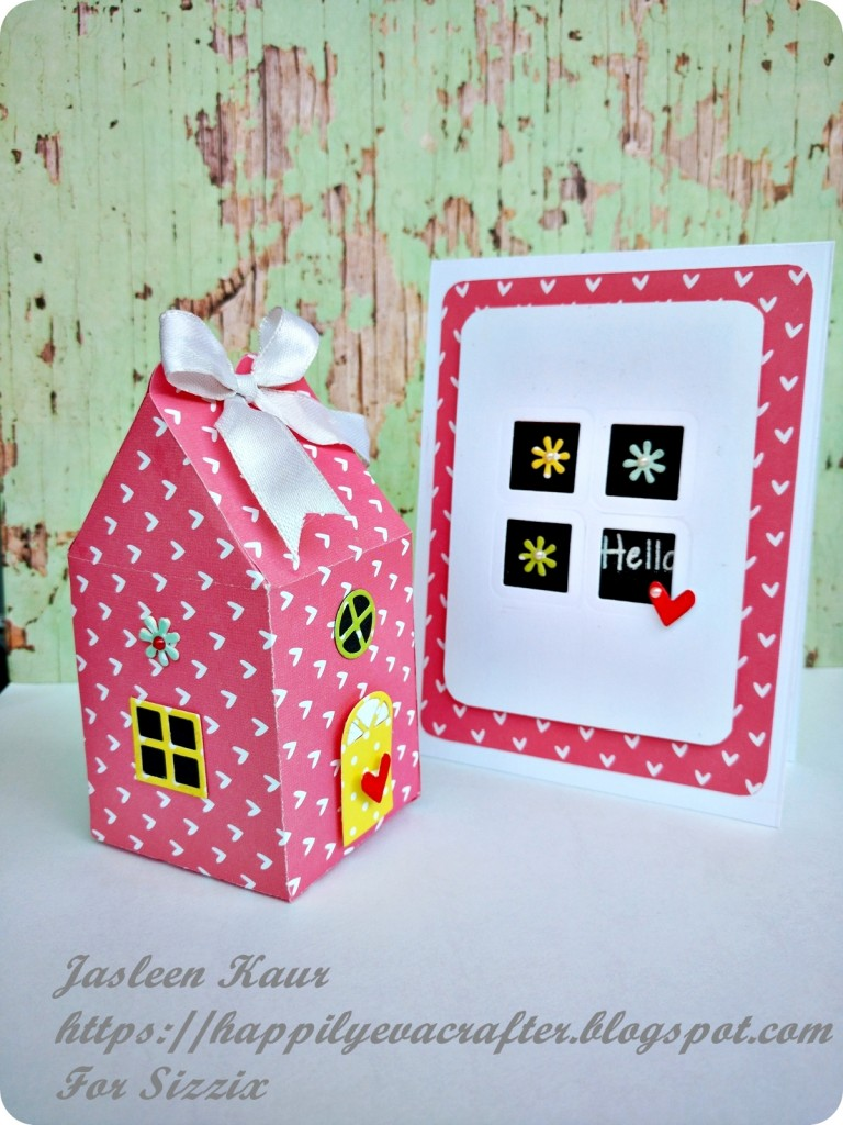 little house gift box and card set
