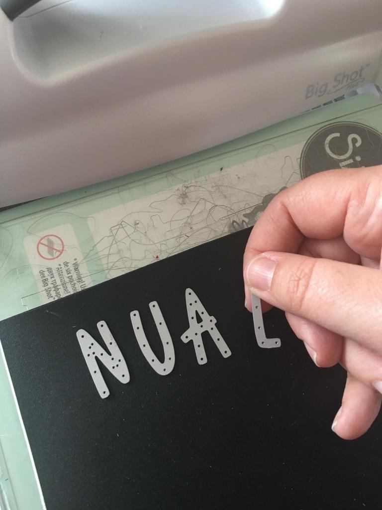 Personalised blackboard label
