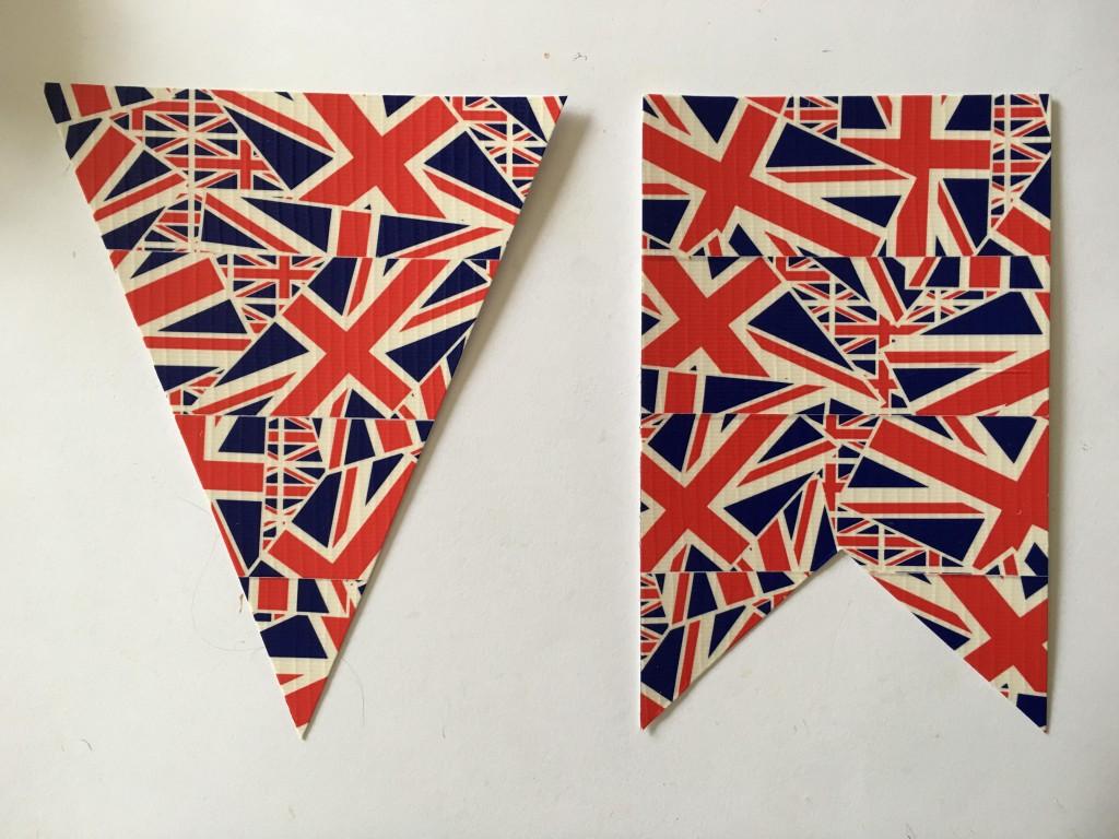 Union flag bunting shapes