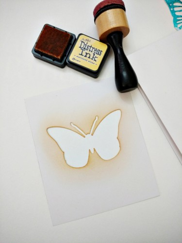Inlaid diecut butterfly card step-2