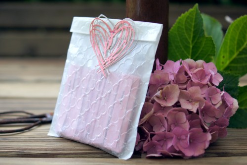 Textured Impressions embossed gift bag by Barbara Haane