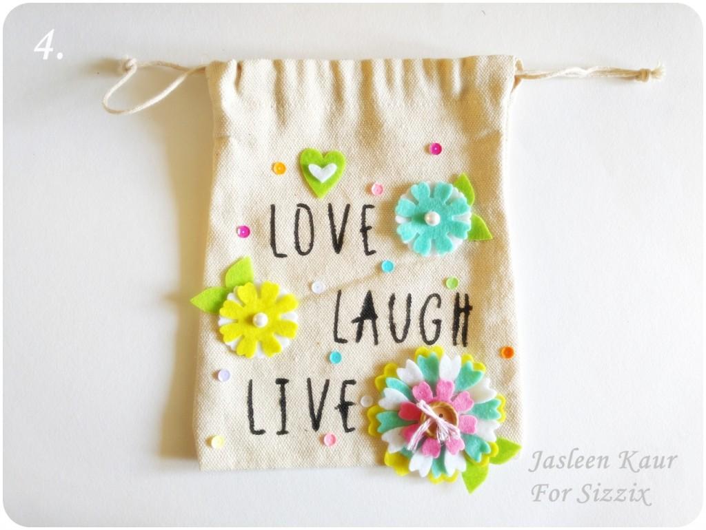 Decorating a plain canvas bag step-4