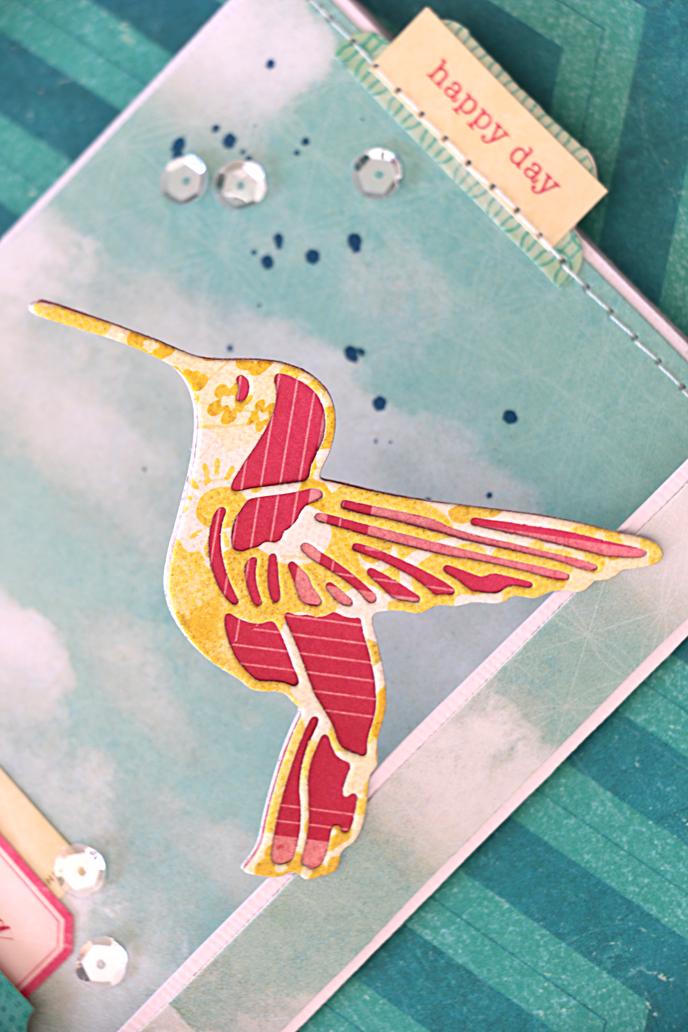 Sizzix Thinlits Cutting Die Stencil Emboss FREE BIRD 2pk 661242