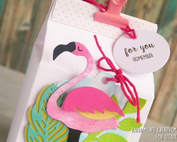 Milk Carton and Funky Flamingo for food gift tutorial