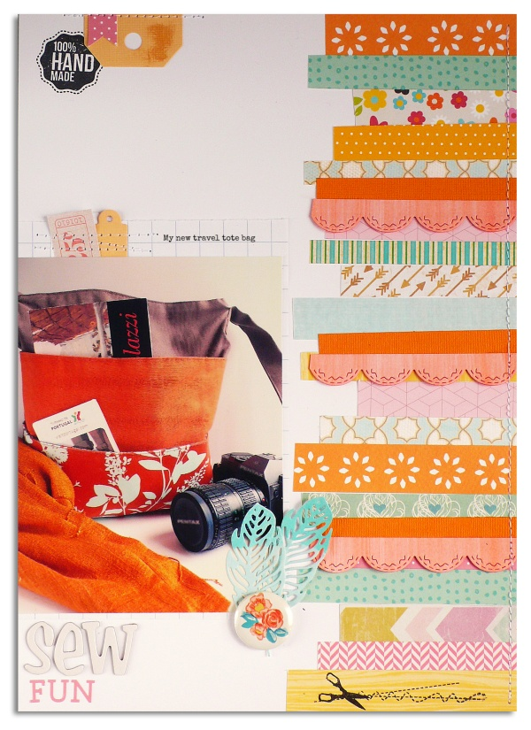 Scrapbook Layout Feathers Sizzix Die Tutorial