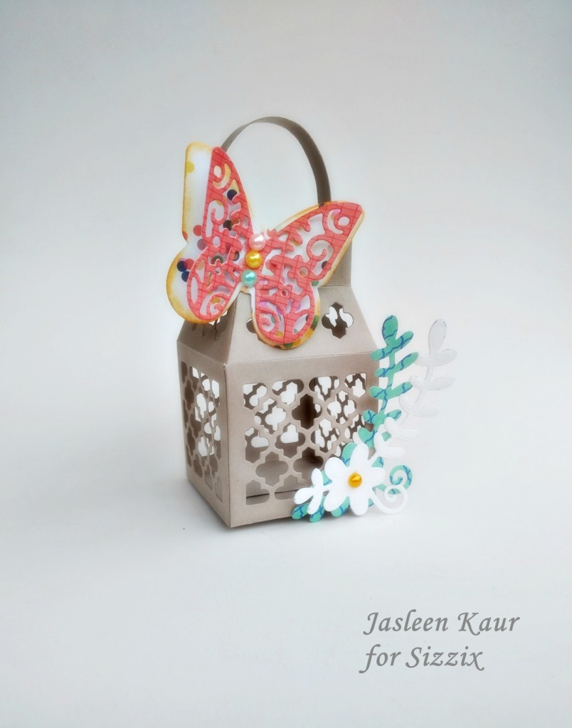 Butterfly lantern for Sizzix by Jasleen Kaur