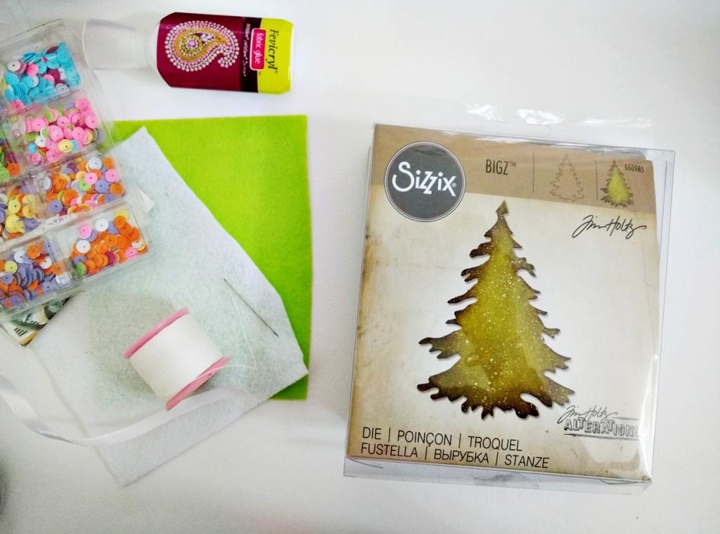 DIY-Felt-keychain-Christmas-tree-Sizzix-by-Jasleen-Kaur-steps