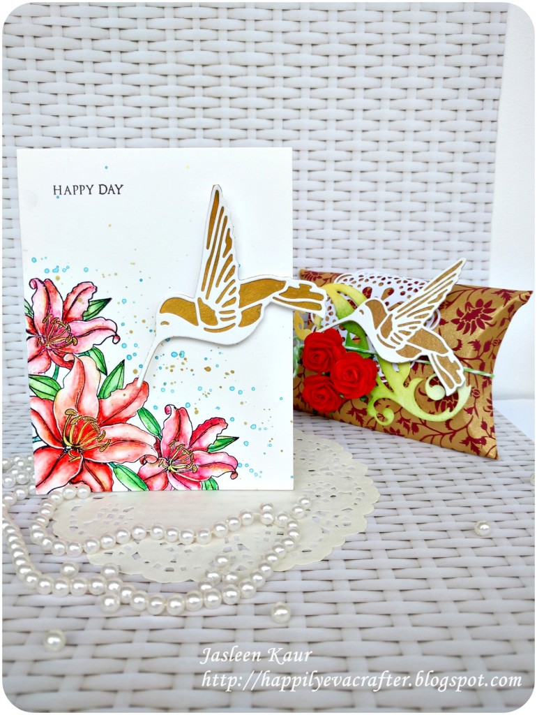 Hummingbird card and box set for  Sizzix by Jasleen Kaur