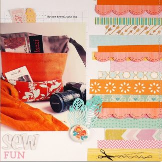 Scrapbooking layout and die-cut ideas